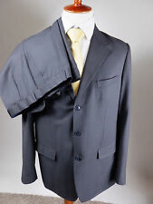 BRIONI Black Three Button Gold Pin Stripe Wool Silky Soft Luxury Suit Men 48 R