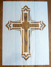 Gothic Cross Stencil Mask Reusable Mylar Sheet for Arts & Crafts, DIY
