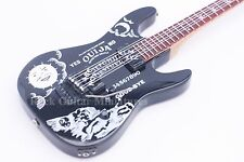 RGM127 Kirk Hammett Black Ouija Metallica  Miniature Guitar with leather strap