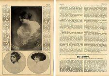 Helene von Zimmerauer Historische Porträtaufnahmen (Die Wienerin) von 1917