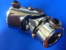 "1"" DD X 1"" DD Double D Coupler Chrome Steering U Joint - Street or Hot Rod 1 inc"