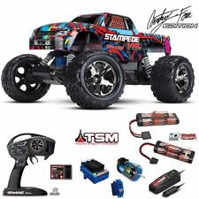 Traxxas 1/10 Stampede VXL 2WD Brushless Truck Hawaiian TSM RTR W/ 2X iD Battery