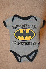 Mommy's Little Crime Fighter Batman 0-3 Months Onsie Brand New