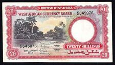 British West Africa 20 Shillings P-10 1956  XF