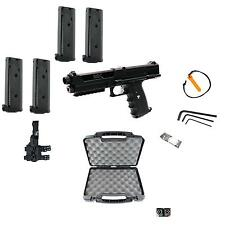 Tippmann TiPX Deluxe Paintball Pistol Kit Gun TPX 4 Clips Hard Case Holster NEW