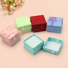 5x Paper Cardboard Square Ring Necklace Earring Jewelry Gift Boxes Display Case