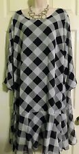 NEW Loose Flowy Tunic Swing Dress by Lane Bryant Plus 20 1X/2X Perfect w/ Boots