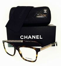 New Chanel Eyeglasses 3302 714 Dark Havana 54•16•140 With Case