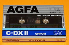 1x AGFA C-DX II 60 Cassette Tape 1987 + MADE IN GERMANY + NEW & SEALED +
