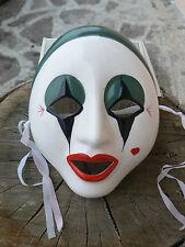 NUOVO Maschera Pierrot in porcellana da appendere 1