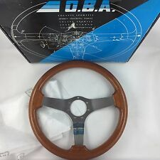 Genuine OBA wood rim 350mm car steering wheel. Superb condition! Classic retro.
