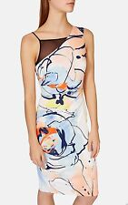 KAREN MILLEN (THE ATELIER) BRUSHSTROKE PRINT DRESS SIZE 12 BRAND NEW WITH TAGS