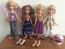 k)  Bratz Dolls Bundle - Pixiez Butterfly Genie Magic & Track Racer Doll & Shoes