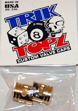 Trick Top Schrader Valve Caps / Gold Piston Caps NEW!