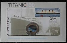 CANADA 2012 TITANIC COMMEMORATIVE - Coloured 25 CENTS & STAMP SET-100 ANNIV-NCC