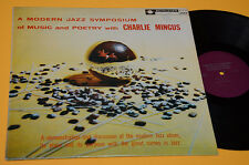 CHARLIE MINGUS LP MODERN JAZZ SYMPOSIUM EX+ TOP AUDIOFILI