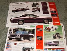 1972 PLYMOUTH DUSTER 340 SPEC INFO POSTER BROCHURE AD 72 71