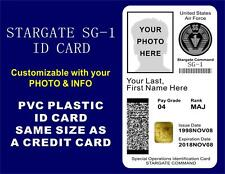 STARGATE SG-1 ID Card / Badge Prop   CUSTOMIZABLE W/ YOUR PHOTO & INFO   PVC ID