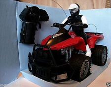 RADIO CONTROL,4 WHEEL ALL TERRAIN R/C VEHICLE,ATV,W/ RIDER,LED LIGHTS,RED,3+,NEW