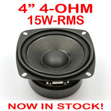"4"" 15WRMS PA DJ Speaker Subwoofer Woofer Sub Driver 4 Inch 4 Ohms Quality"