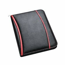 A4 Soft Touch Padded Office Business Conference Folder Portfolio -Black - CL-203