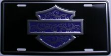harley davidson motorcycle purple Silhouette outline license plate tag truck car