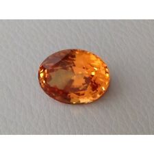 Natural Hessonite Garnet yellowish orange color 26.96 carats with GIA Report
