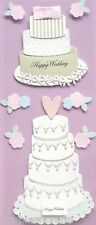 EK SUCCESS A TOUCH OF JOLEE'S 3-D STICKERS  CAKES FLOWERS MARRIAGE WEDDING CAKES