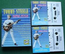 Tommy Steele Rebel Rock inc Singing the Blues + Cassette Tape x 2 Set - TESTED