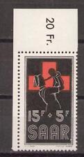 1955 Saar / Saarland  Mi. 360 ** postfr. EOL Ecke oben links