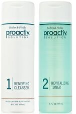 Proactiv 6oz DUO Renewing Cleanser & Revitalizing Toner 90 day Proactive 2pc Kit
