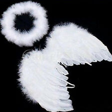 Cute Prop White Baby Photo Angel And Feather Kids For Decoration