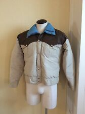 Vintage POWDERHORN Mountaining Down Jacket Western Style 1970's Wyoming Men's L