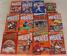 11 Wheaties Box Lot - Tiger Woods, 49ers, Jackie Robinson, Lance Armstrong +++