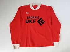 ENGRAIS UKF N°6 MAILLOT FOOTBALL PORTE WORN SHIRT VINTAGE MAGLIA TRIKOT CAMISETA