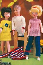 VINTAGE KNITTING PATTERN TO MAKE SINDY BARBIE KEN ACTION MAN DOLL CLOTHES
