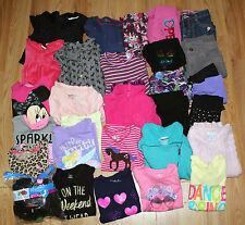 Girl's 30pc Clothing LOT 4T-5T Tops Pants Dress Childrens Place Cherokee Disney