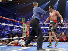 JUAN MANUEL MARQUEZ vs MANNY PACQUIAO 4 FIGHT KNOCK OUT 8x10 PHOTO