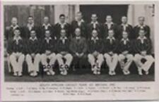 REAL PHOTOGRAPHIC POSTCARD South African Cricket Team, Great Britain 1947