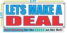LETS MAKE A DEAL Banner Sign NEW Larger Size Best Quality for The $$$ RWB CAR