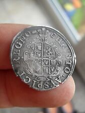 CHARLES Ist ABERYSTWYTH SILVER SIXPENCE mm BOOK- 1638-42 .RARE COIN.  E590