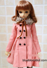 1/3 BJD 60cm girl SD13 doll outfits peach faux collar coat dollfie dream ship US