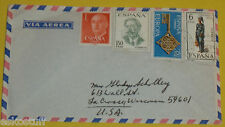 Spain 1960s Envelope with 4 Stamps – Key Great Graphics! Nice SEE!
