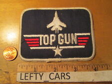 TOP GUN AIR FORCE EMBROIDERED CLOTH VINTAGE PATCH - SEW ON TYPE