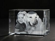 3D Laser Foto im Viamant Glas Block Brescia 100x70x60mm Glasfoto Bilder Geschenk