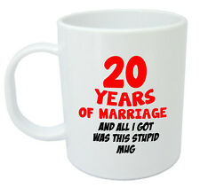 20 Years Of Marriage Mug 20th Wedding Anniversary Gifts For Women, Men, Him, Her