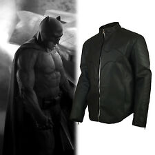 Superman Vs Batman Movie Simple Batman Embossed Street real Leather Jacket
