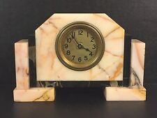 Vintage American Made Art Deco Pink White and Black Marble Runs w/ Antique Water