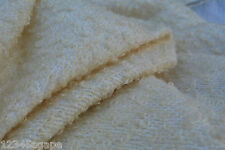 D 256 LUXURIOUS NATURAL IVORY TONES WOOL & COTTON BOUCLE WEAVE MADE IN ITALY