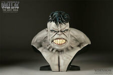 SIDESHOW INCREDIBLE HULK LEGENDARY Scale Bust GREY STATUE  AVENGERS Red Figure